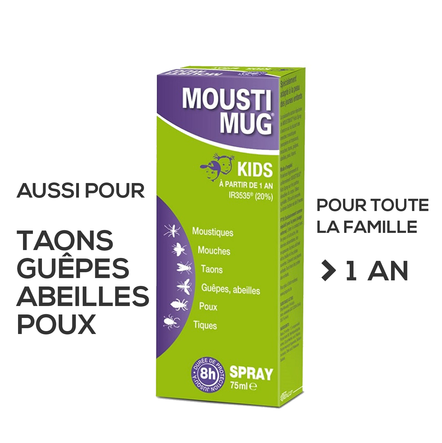 Moustimug Kids Spray Nf 75ml