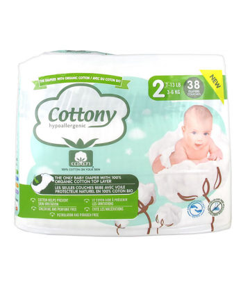 Cottony Baby Diapers Size 2 3 - 6kg 38