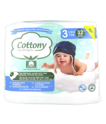 Cottony Baby Diapers Size 3 4 - 9kg 32
