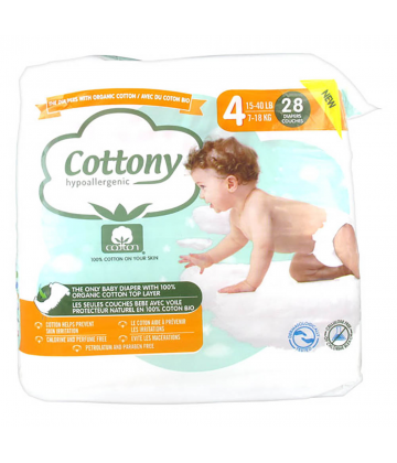 Cottony Baby Diapers Size 4 7 - 18kg 28