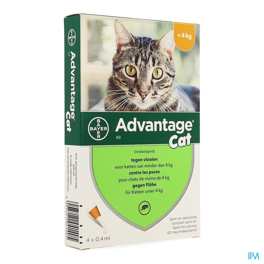 Advantage 40 Chats <4kg 4x0,4ml