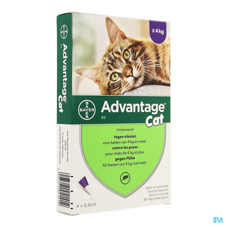 Advantage 80 Chats >4kg 4x0,8ml