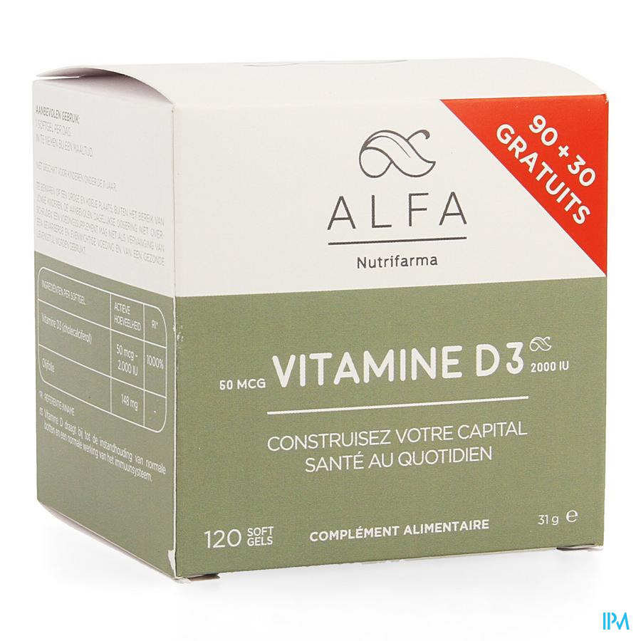 Alfa Vitamine D3 50mcg Softgel 120