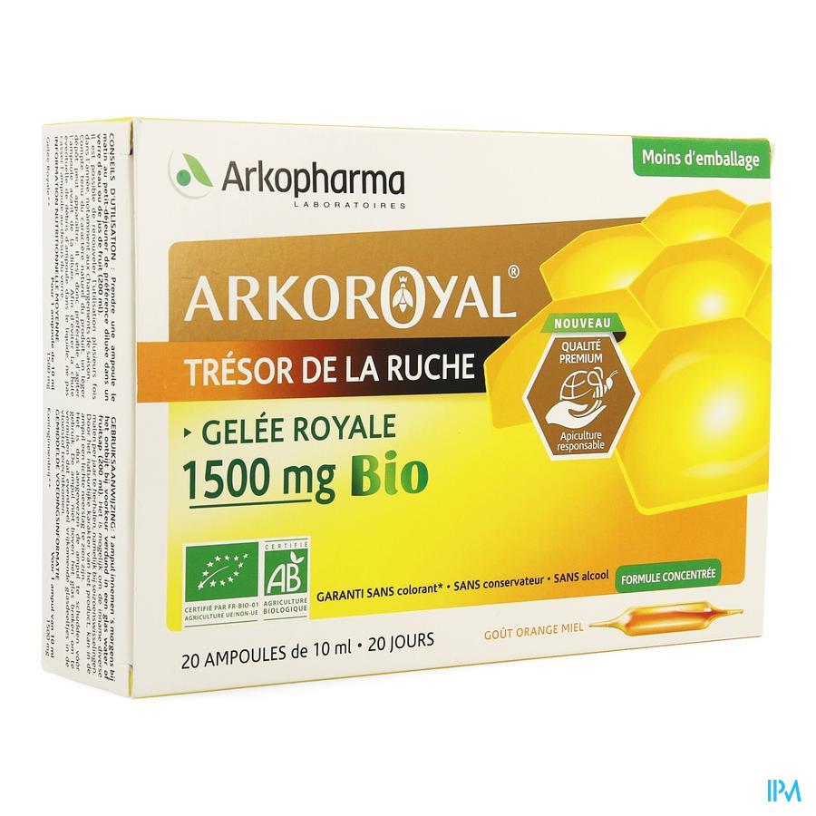 Arkoroyal Gelee Royale Bio 1500mg Amp 20x10ml