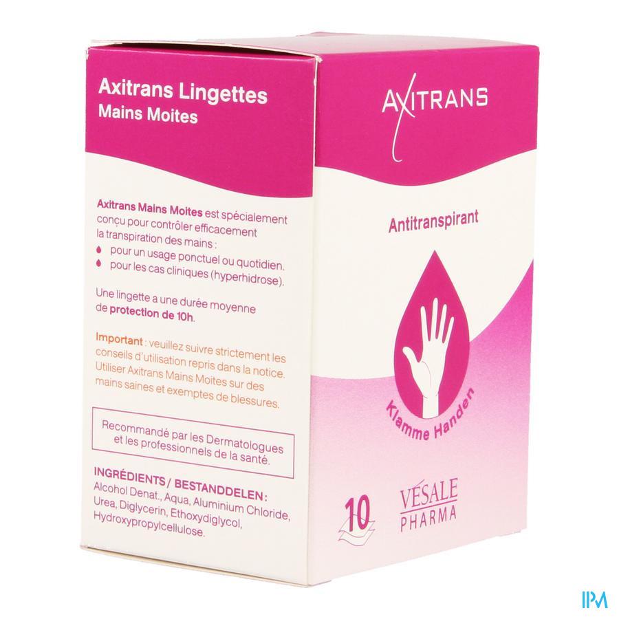 Axitrans Mains Moites Lingettes 10