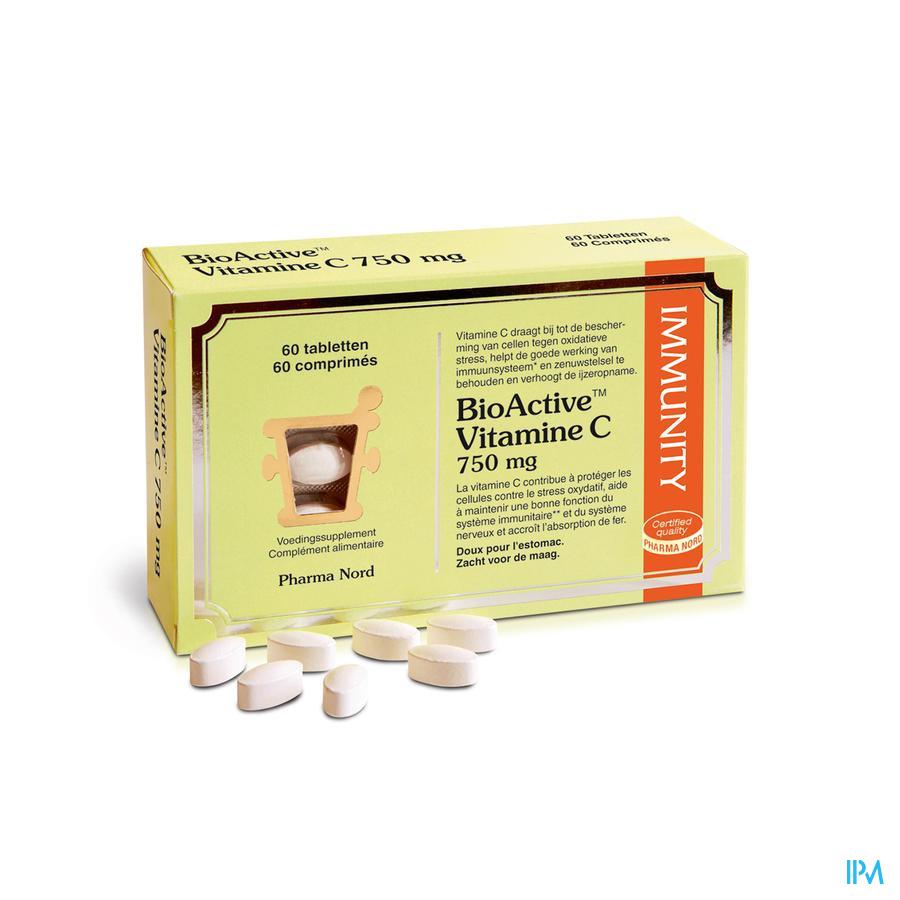 Bioactive Vitamine C 750mg Tabl 60