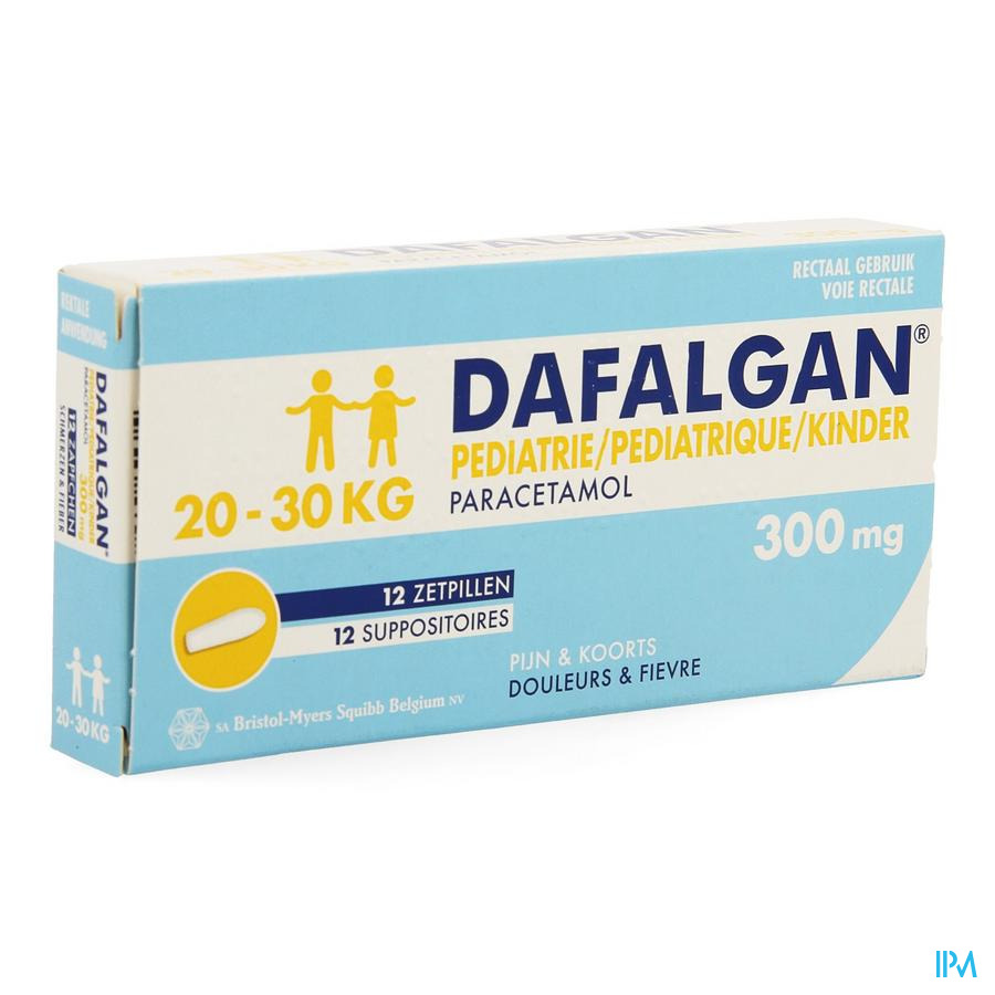 Dafalgan Pediatrique 300mg Suppo 12