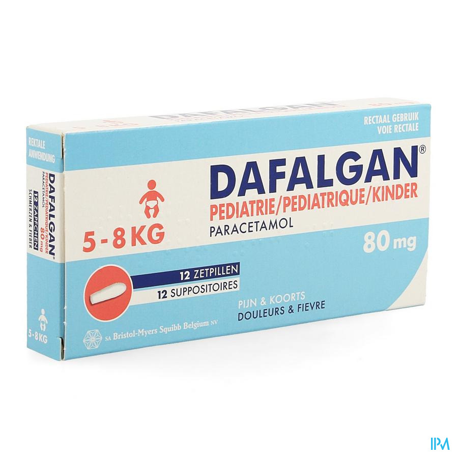 Dafalgan Pediatrique 80mg Suppo 12