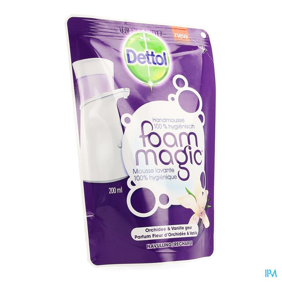 Dettol Foam Magic Fl Orchid/vanille Recharge 200ml