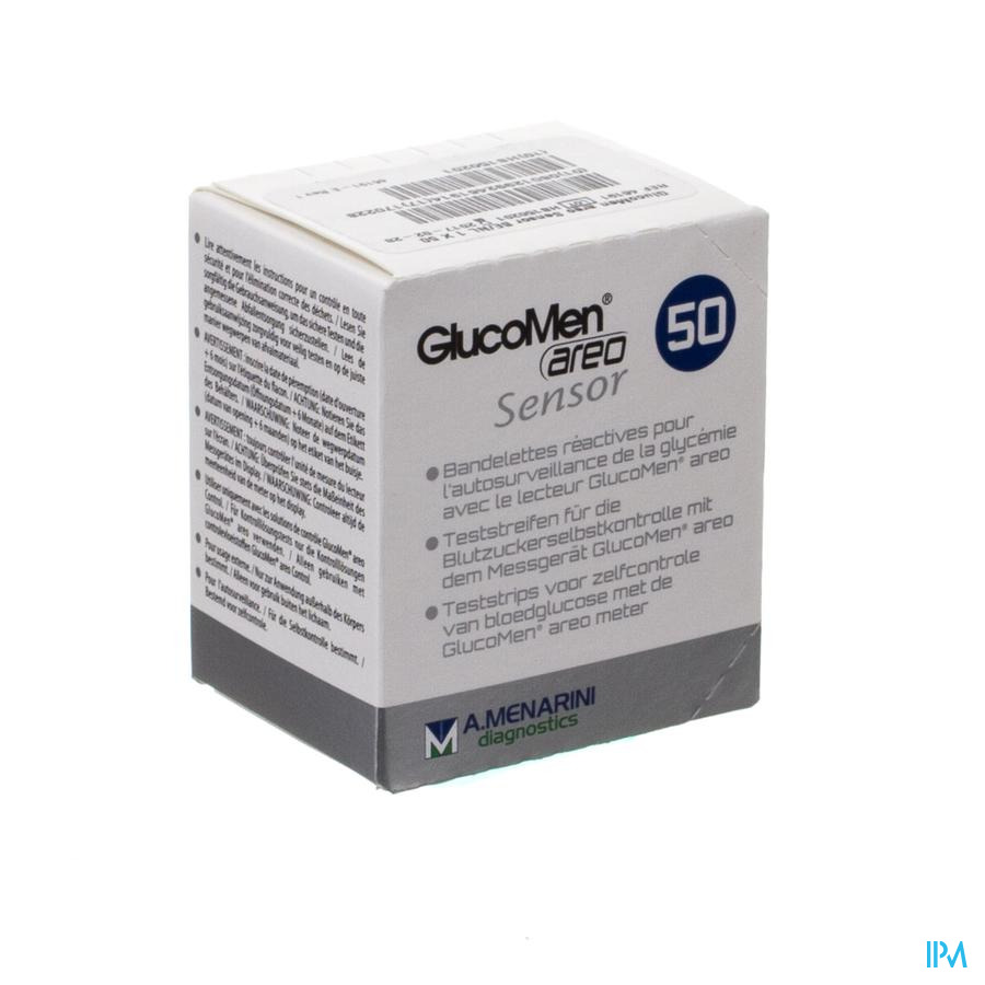 Glucomen Areo Sensor Bandelettes 50 46191