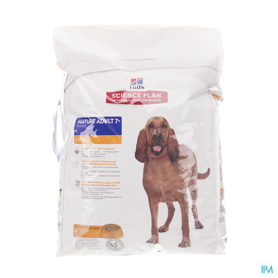 Hills Sc.plan Canine Light Senior Chick.12kg 7544n