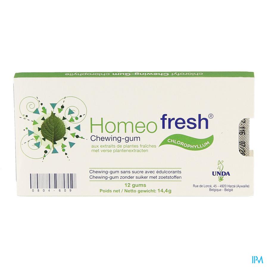 Homeofresh Chew-gum Bioactivum Chloroph. Ss 1x12