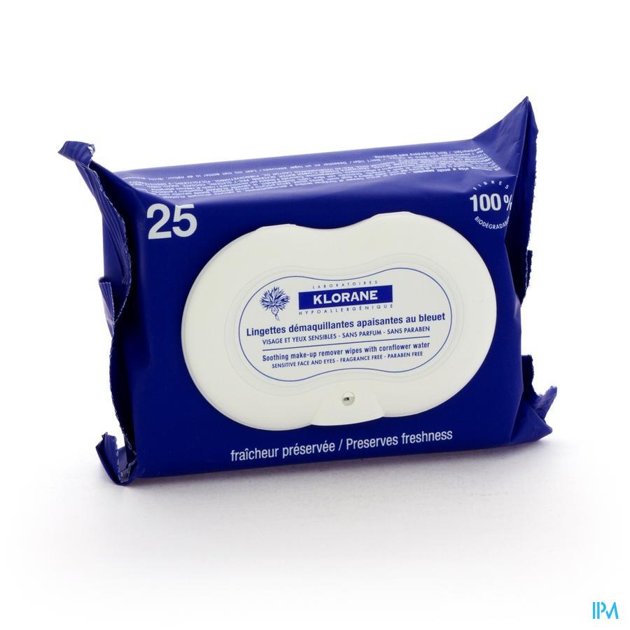 Klorane Bleuet Lingettes 25