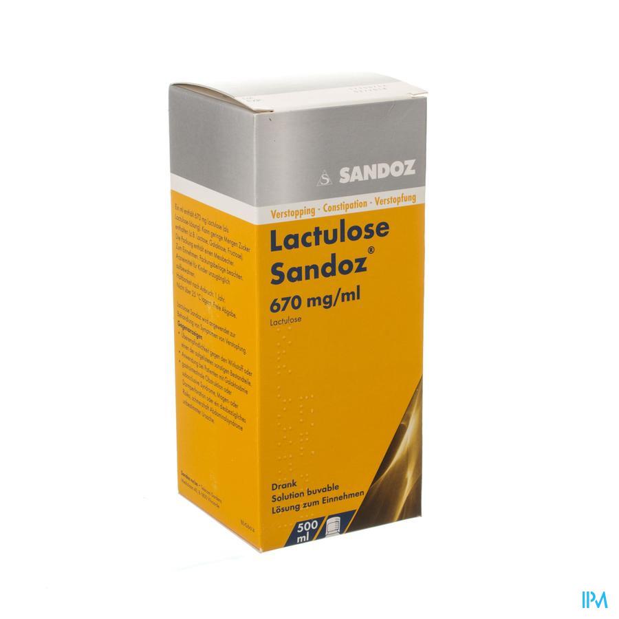Lactulose Sandoz Drank 500ml 670mg/ml