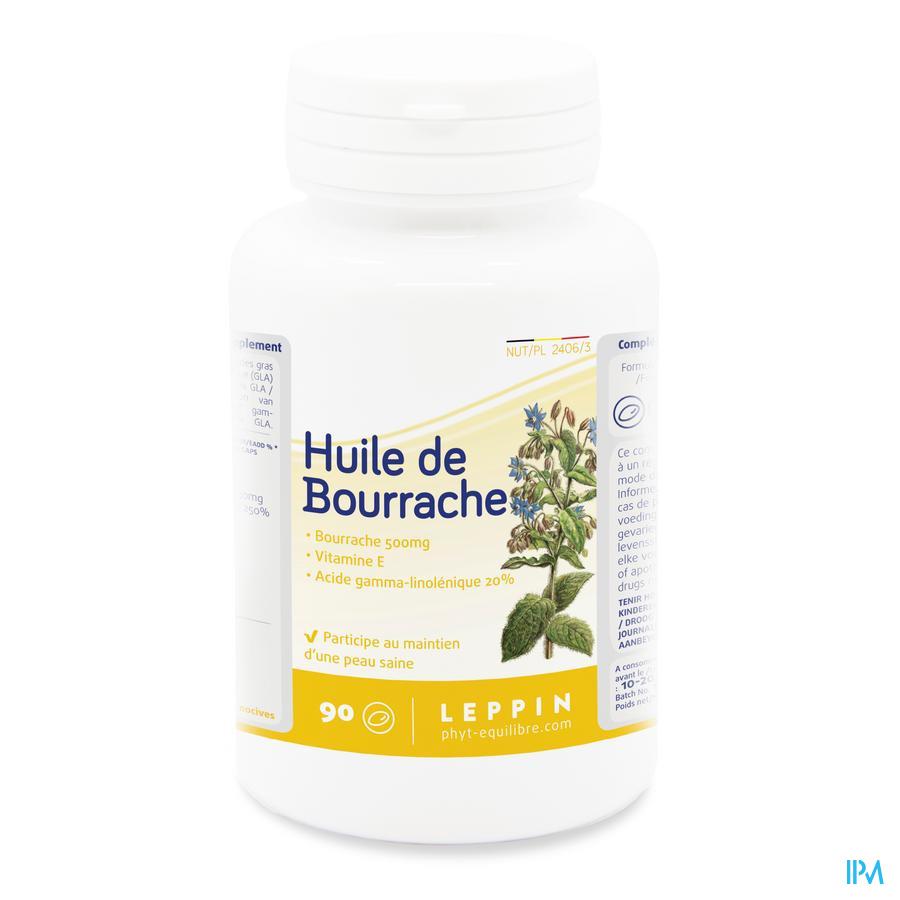 Leppin Huile De Bourrache Caps 90