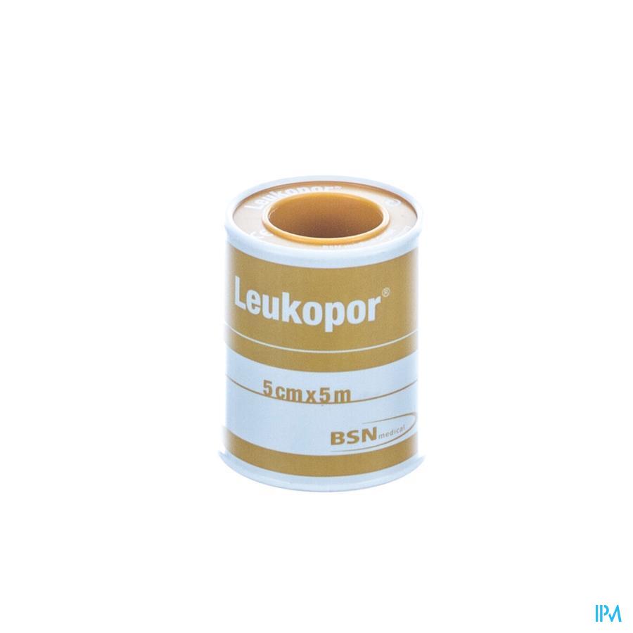 Leukopor Fourreau Sparadrap 5,00cmx5,0m 1 0247400