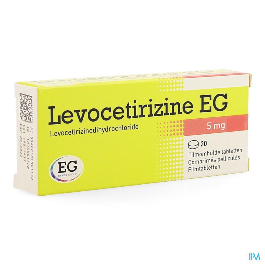 Levocetirizine Eg 5mg Comp Pell 20