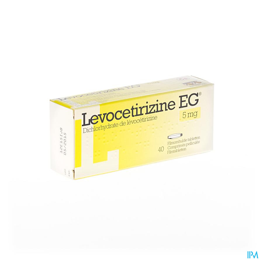 Levocetirizine Eg 5mg Comp Pell 40