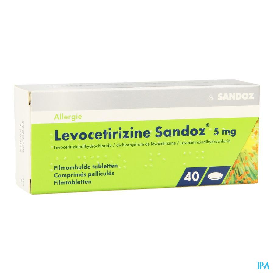 Levocetirizine Sandoz 5mg Comp Enrob. 40 X 5mg