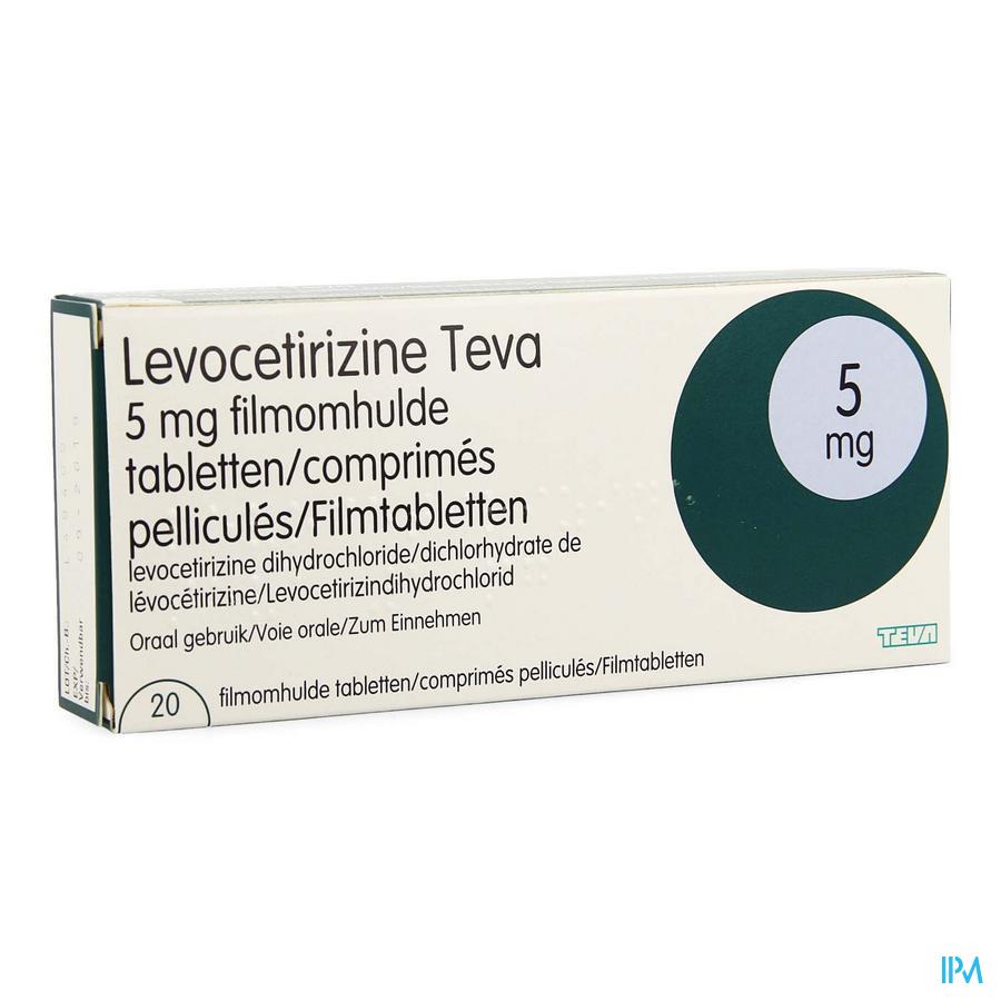 Levocetirizine Teva 5mg Comp Pell 20 X 5mg