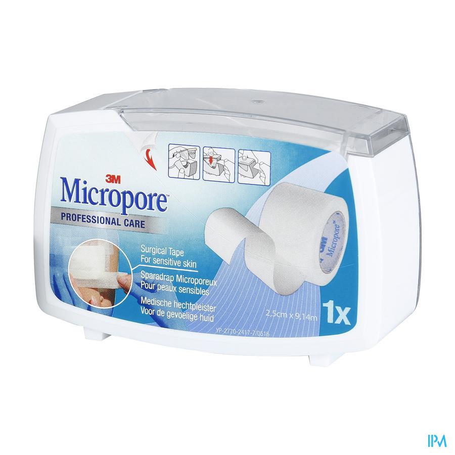 Micropore 3m 25,0mmx9,1m Nouv.derouleur 1530p-1d