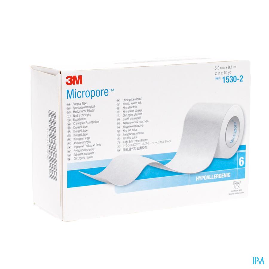 Micropore 3m Sparadrap 50mmx9,14m Rouleau 6 1530