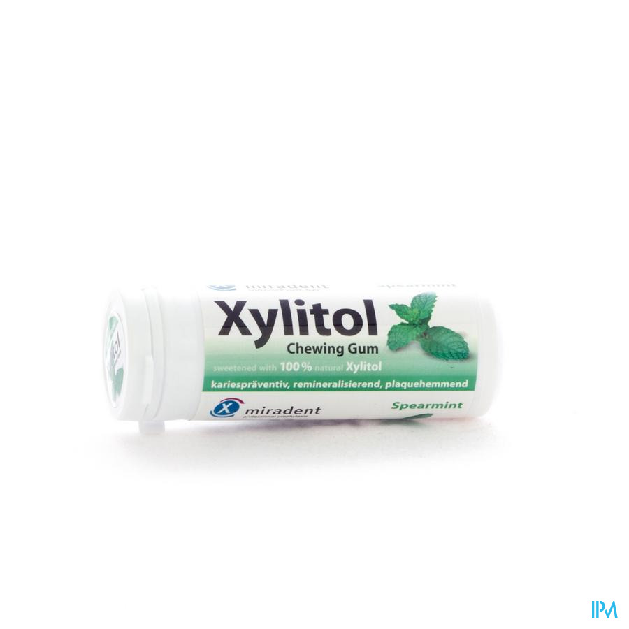 Miradent Chewing Gum Xylitol Menthe Verte Ss 30