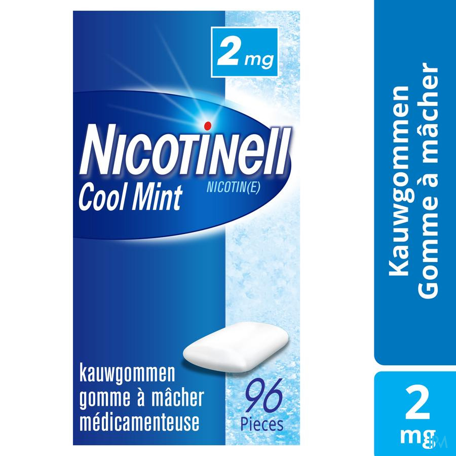 Nicotinell Cool Mint 2mg Gommes A Macher 96