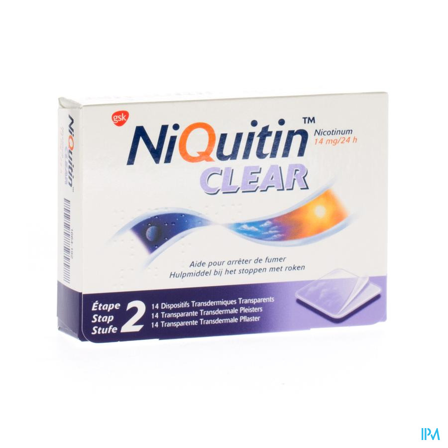 Niquitin Clear Patches 14 X 14mg