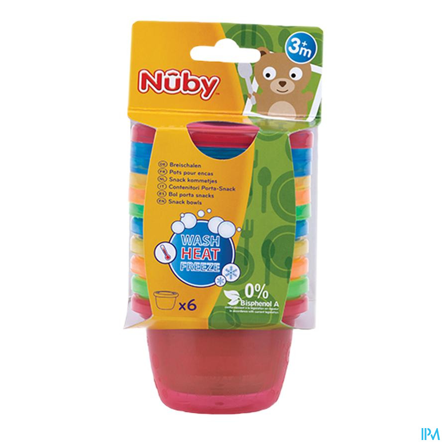 Nûby Pots pour encas - 120ml - 3m+