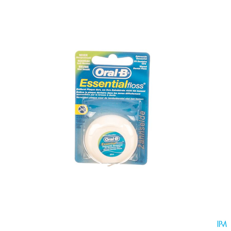 Oral B Floss Esssential Floss Mint Waxed 50m