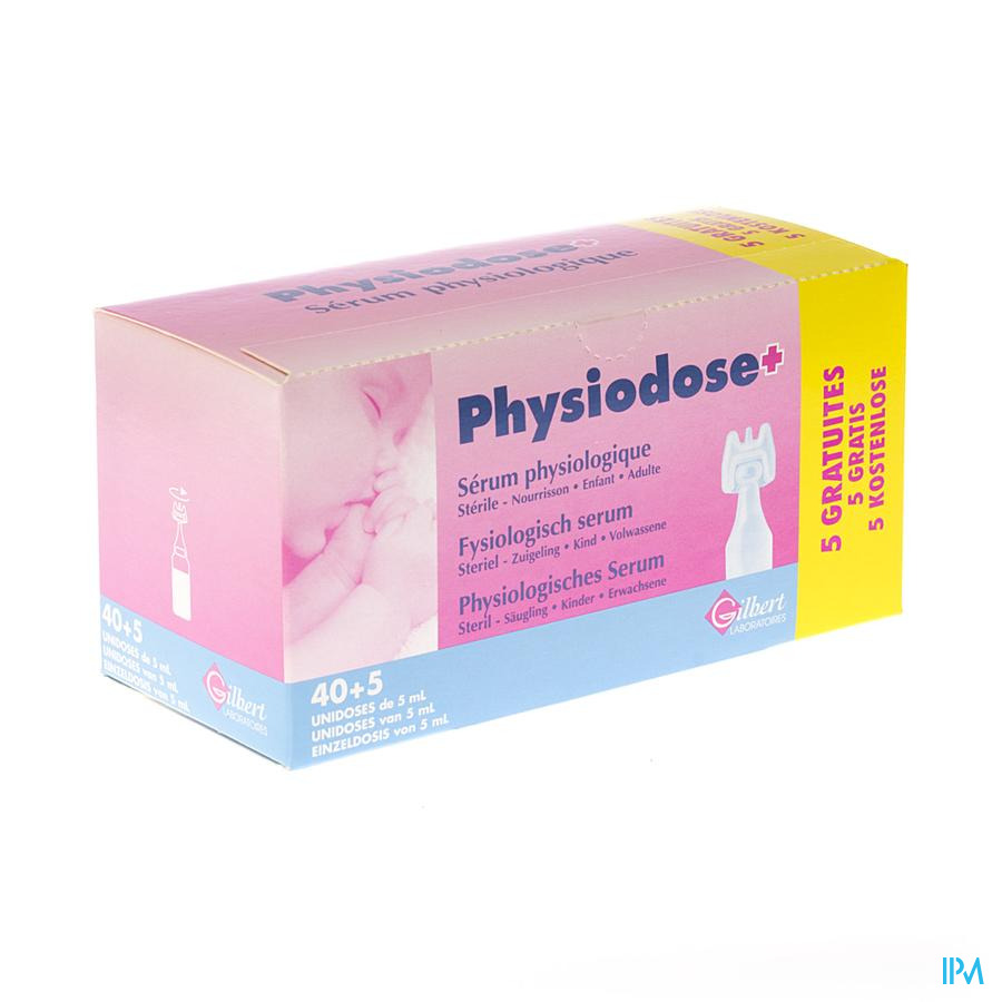 Physiodose Serum Physio Ud Ster 40x5ml+5 Gratuit
