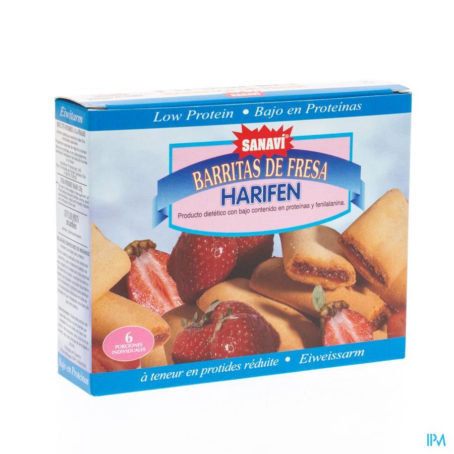 Sanavi Harifen Biscuit Fourre Fraise 6x25g 4639