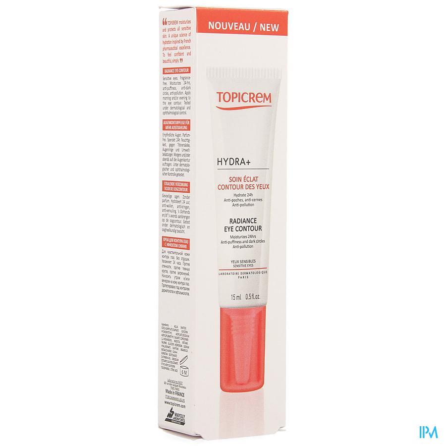 Topicrem Hydra+ Soin Eclat Contour Yeux 15ml