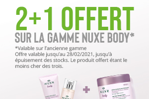 Promotion Nuxe Body Santis.be